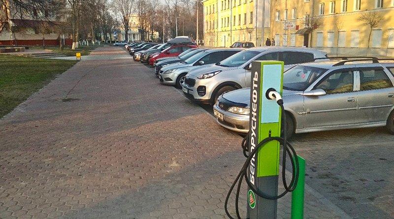 станция электрозарядки автомобилей