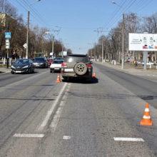 В Гомеле водитель проехал на «красный» и сбил пешехода