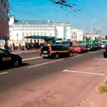Водители такси устроили протест в Гомеле