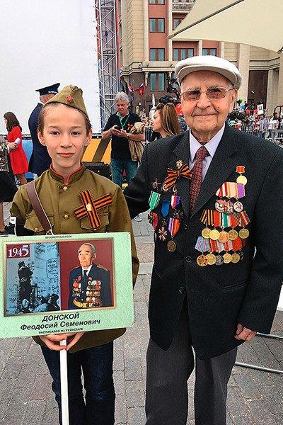 Феодосий Ячменев помог бабушке попасть на Бессмертный полк