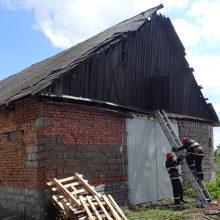 Пожар в Ченках: горел склад с деревообрабатывающим оборудованием