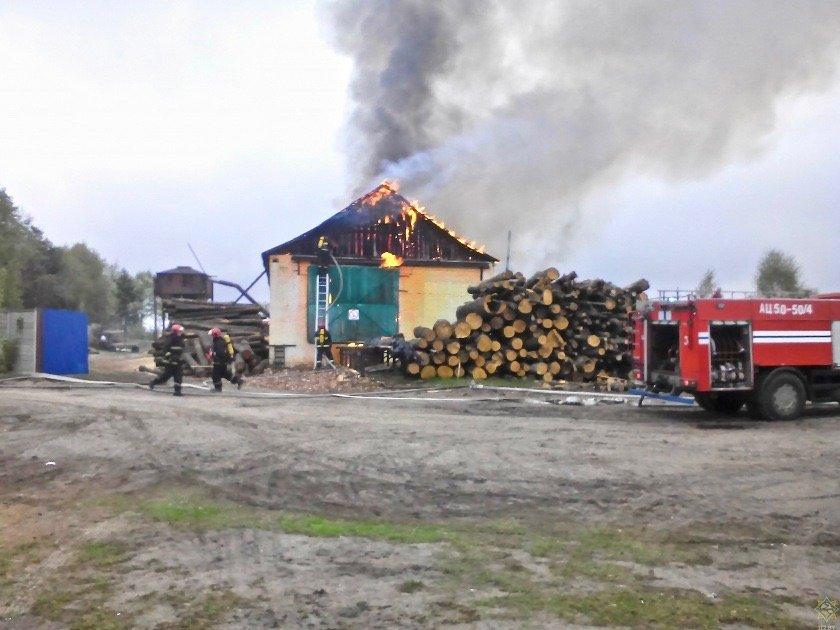 Пожар в Гомельском районе
