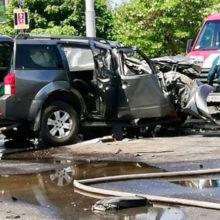 Страшное ДТП в Гомеле: Nissan влетел в столб, есть погибший