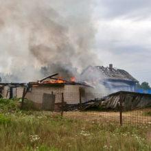 Из-за грозы на Гомельщине сгорело 4 дома, 2 сарая и баня