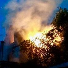 На улице Кирова в Гомеле горел жилой дом