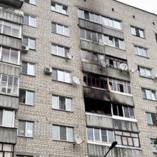 В Гомеле на улице Жукова горела квартира