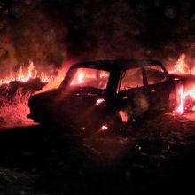 В Светлогорске сгорел автомобиль, рассматриваемая версия — поджог