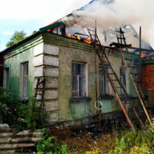 Два пожара за сутки произошло в Гомельской области из-за ударов молнии