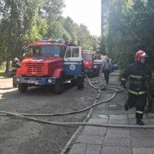 На пожаре в Гомеле спасены двухлетняя девочка и мужчина