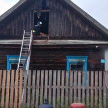 В Петриковском районе при пожаре погиб человек