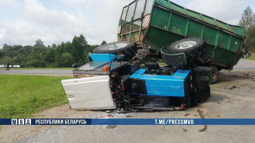 аварии с трактором