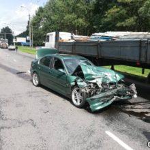 Авария в Гомеле: на объездной столкнулись три авто
