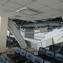Ввизовом центре Литвы обрушился подвесной потолок