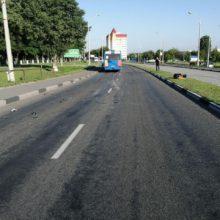 Авария в Речице: мотоциклист столкнулся с автобусом
