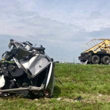 Серьёзное ДТП под Гомелем: водитель уснул за рулем и врезался в грузовик