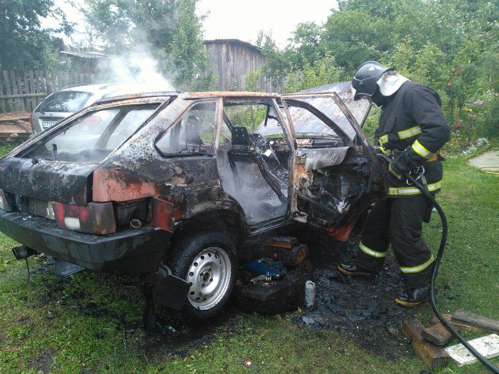 Три авто сгорели в Гомельской области