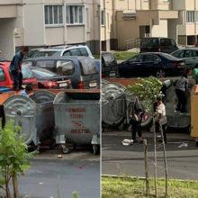 В Гомеле маленькие цыгане лазят по мусоркам, где ищут еду и пиво