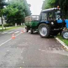 В Лоеве трактор сбил девушку на пешеходном переходе