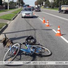 В Жлобине велосипедист врезался в попутное авто