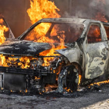 За полгода в области произошло 29 пожаров в автомобилях