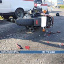 Под Гомелем мотоциклист попал под грузовик и погиб