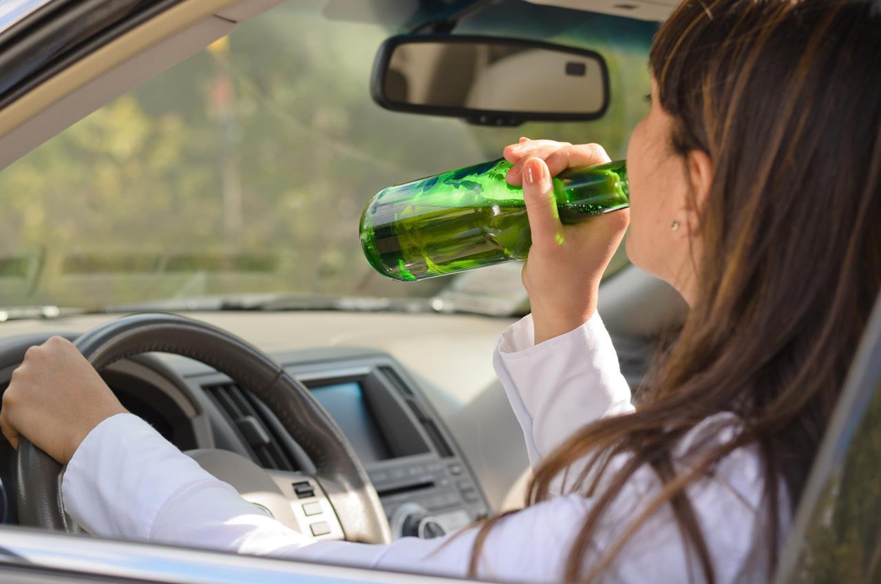 пьяной за рулем