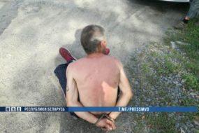 В Пружанском районе милиция с выстрелами задерживала нарушителя с топором