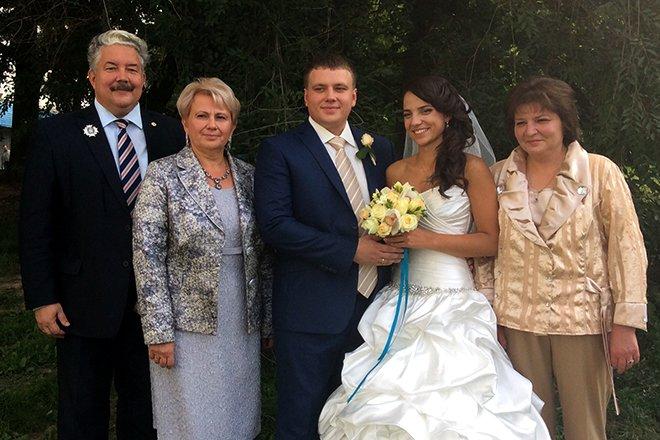 Сергей Бабурин с семьей