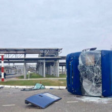 ДТП на Мозырском НПЗ: один человек погиб, еще 11 пострадали