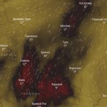 Гомель захватывает крупнейший смог из Украины