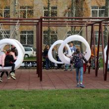В Гомеле по проекту студентов построили технологичный сквер