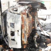 В Житковичах во время сварочных работ в гараже сгорел автомобиль