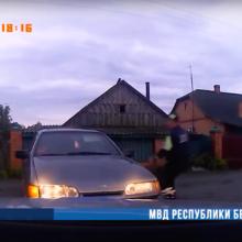 В Ольшанах бесправник удирал от ГАИ задним ходом