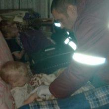 При пожаре в Светлогорске пострадали маленькие дети