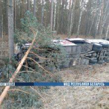 В Речицком районе грузовик столкнулся с автобусом