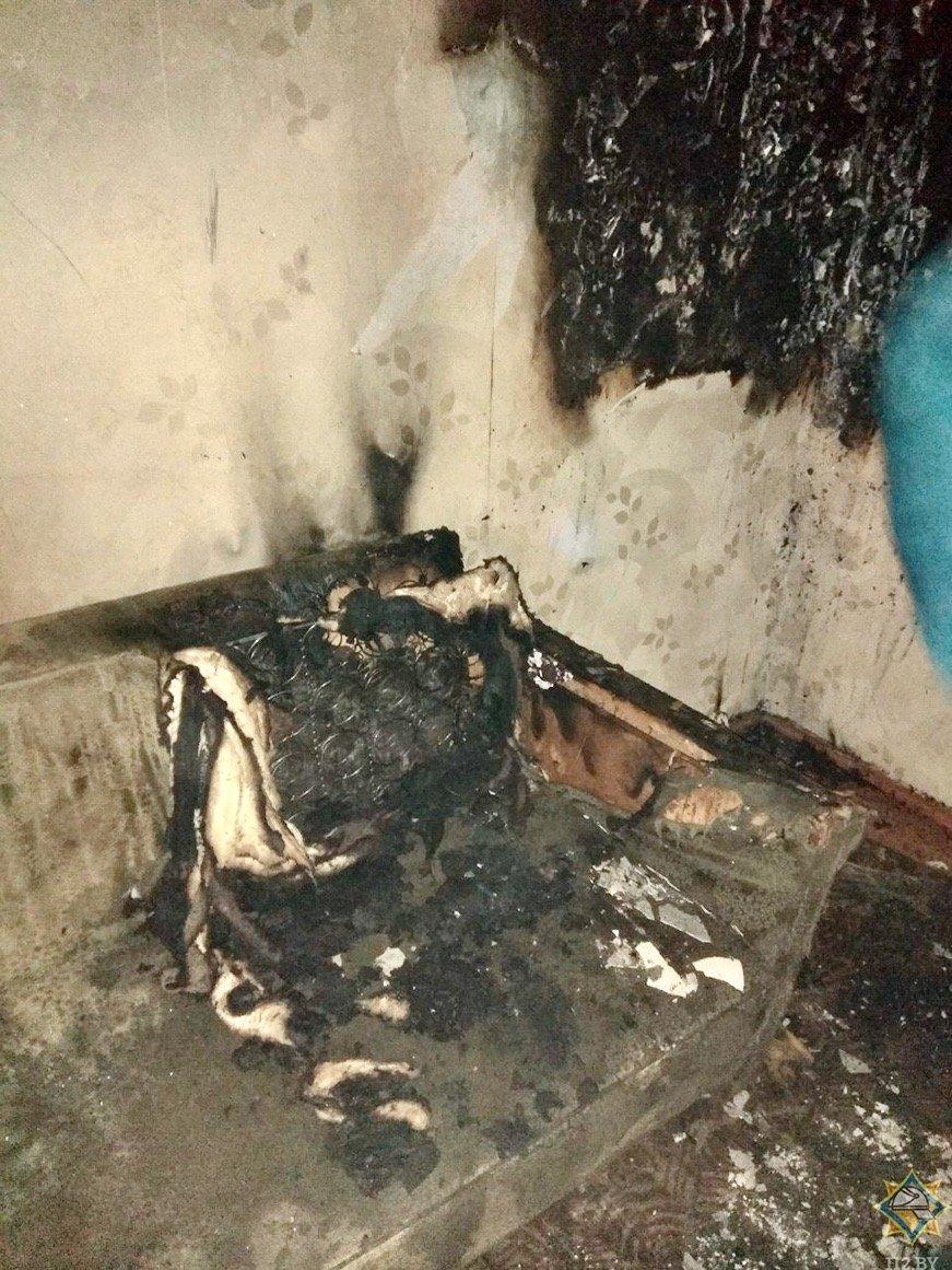 при пожаре пострадали дети