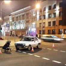 На Советской в Гомеле водитель сбил детскую коляску