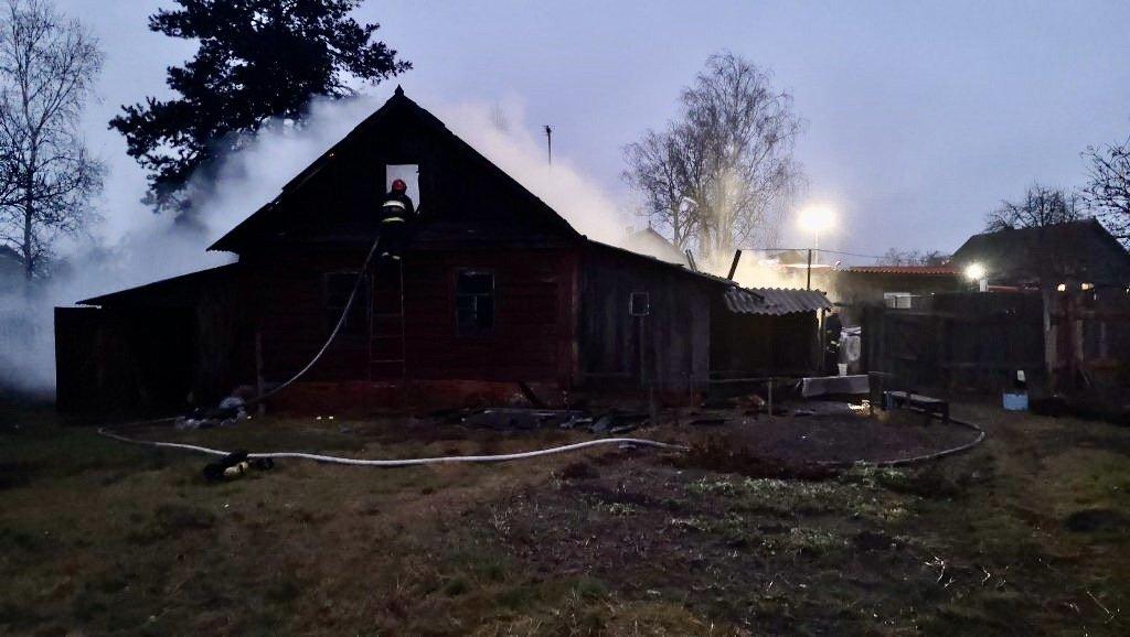 на пожарах в Гомельской области