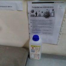 Борьба с коронавирусом по-гомельски: в магазинах поставили бутылки с антисептиком