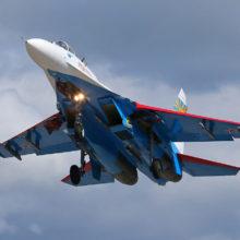 Российский истребитель Су-27 упал в акватории Черного моря