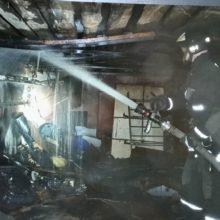 В Гомеле горели два гаража. Предполагаемая причина — поджог