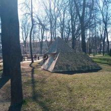 В сквере имени Громыко в Гомеле демонтировали одно из «чудес света»