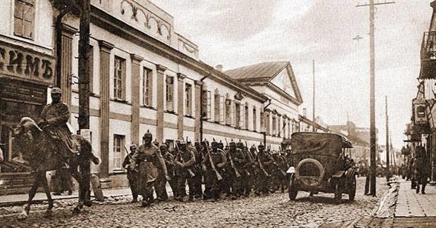 Германские оккупанты в Гродно, 1918 г.