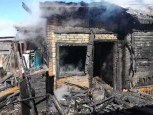 пожар в Рогачевском районе