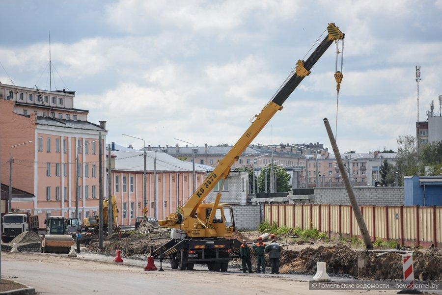В Гомеле идет реконструкция улицы Шевченко