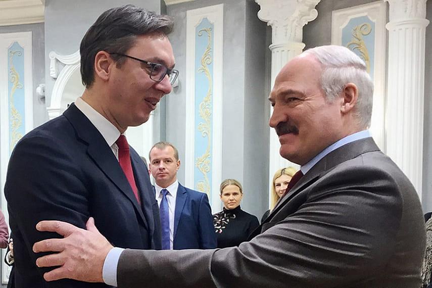 Лукашенко обсудил по телефону с Вучичем перспективы белорусско-сербских отношений