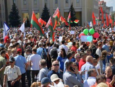 МВД: в митинге за Лукашенко в Минске приняли участие более 65 тысяч человек