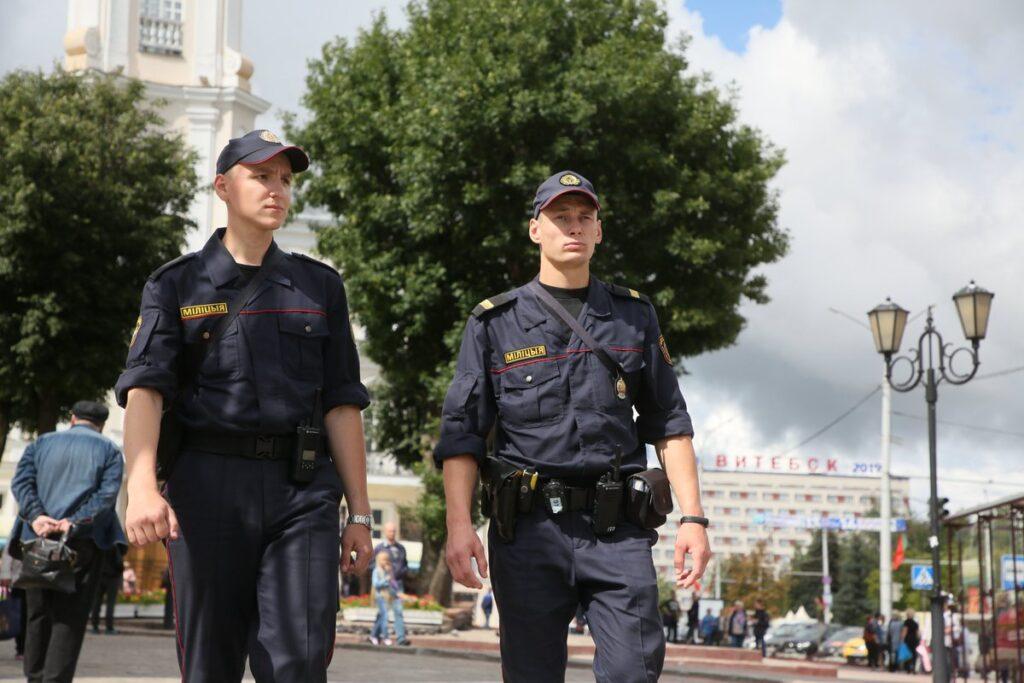 Сотрудники МВД Беларуси
