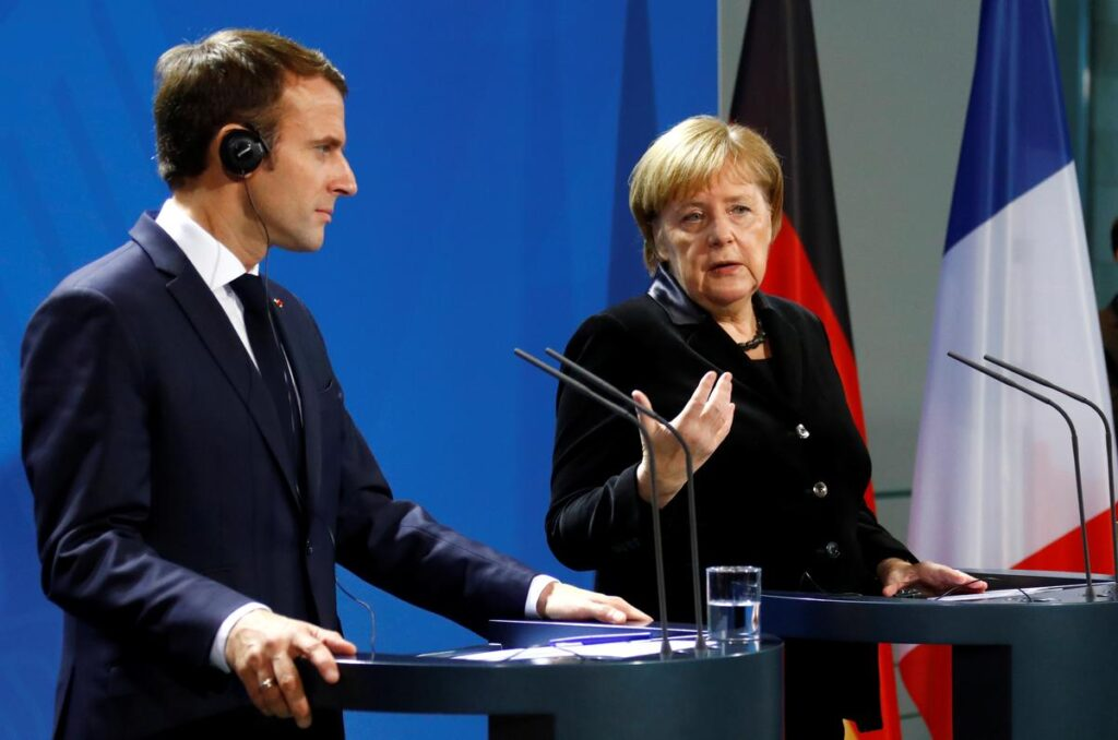 Эммануэль Макрон и Ангела Меркель