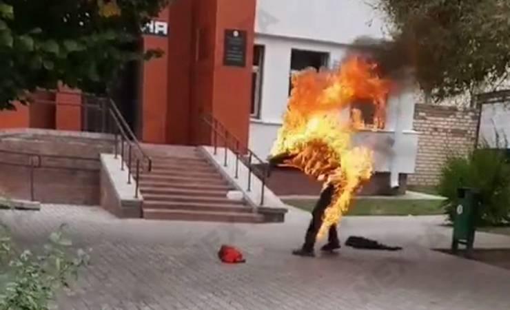 самосожжения у здания РОВД в Смолевичах